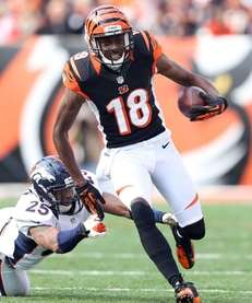 CINCINNATI, OH - NOVEMBER 04: A.J. Green #18