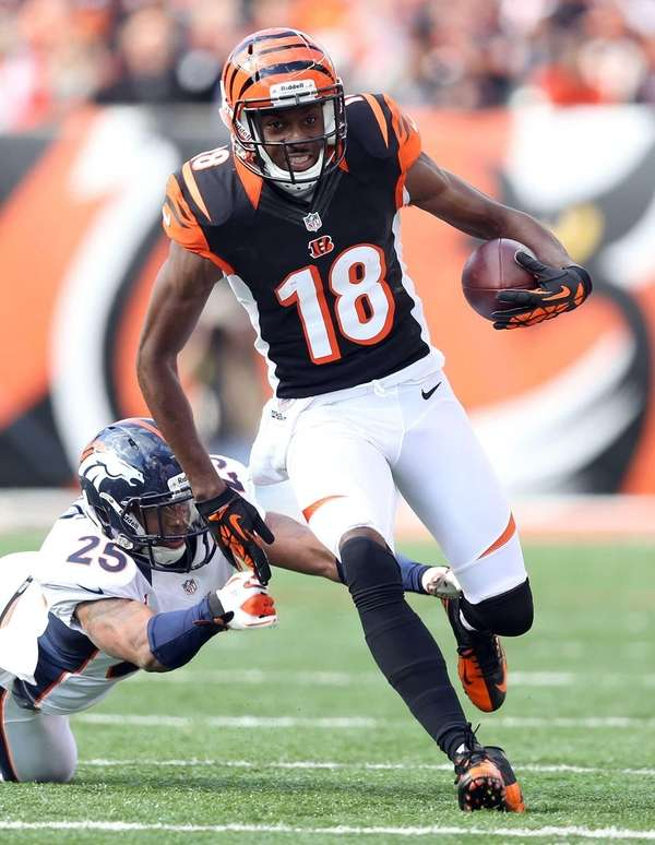 Bengals receiver A.J. Green against the Broncos at