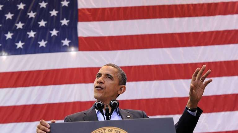 President Barack Obama speaks during a campaign rally