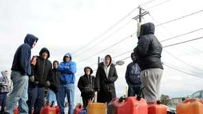 Gas customers brave the cold Monday as they