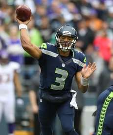 SEATTLE, WA - NOVEMBER 04: Quarterback Russell Wilson