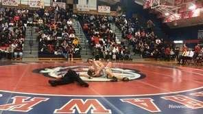 Cold Spring Harbor's Kolton Gagnon won by fall,