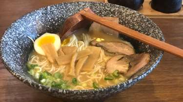 A bowl of shoyu pork ramen at Sei