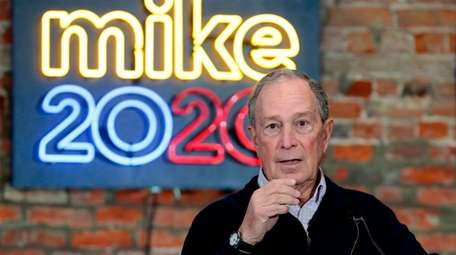 Democratic presidential candidate Michael Bloomberg in December.