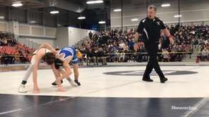 Hauppauge's Mikey Manta won a 3-2 decision over