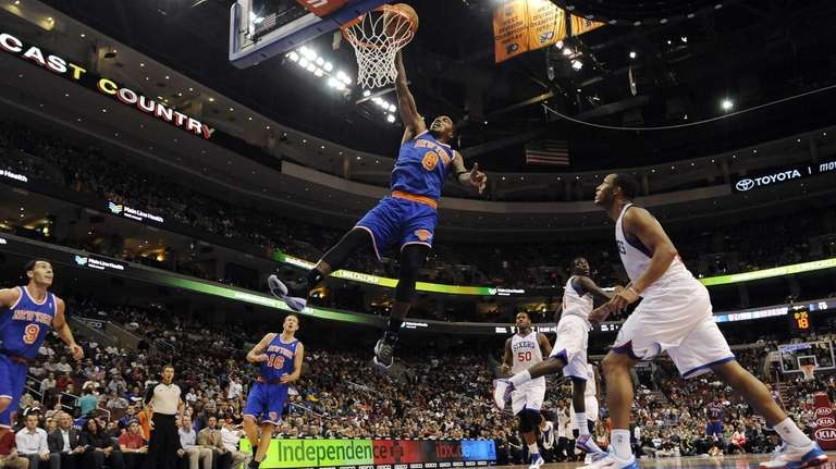 J.R. Smith dunks on a fast break in