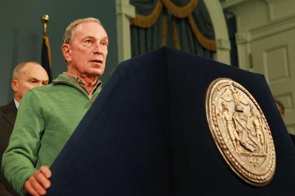 New York City Mayor Michael Bloomberg updates the
