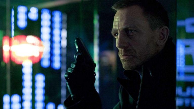 Daniel Craig portrays James Bond in a scene