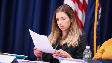 Chair Natalie Wright during the meeting of the