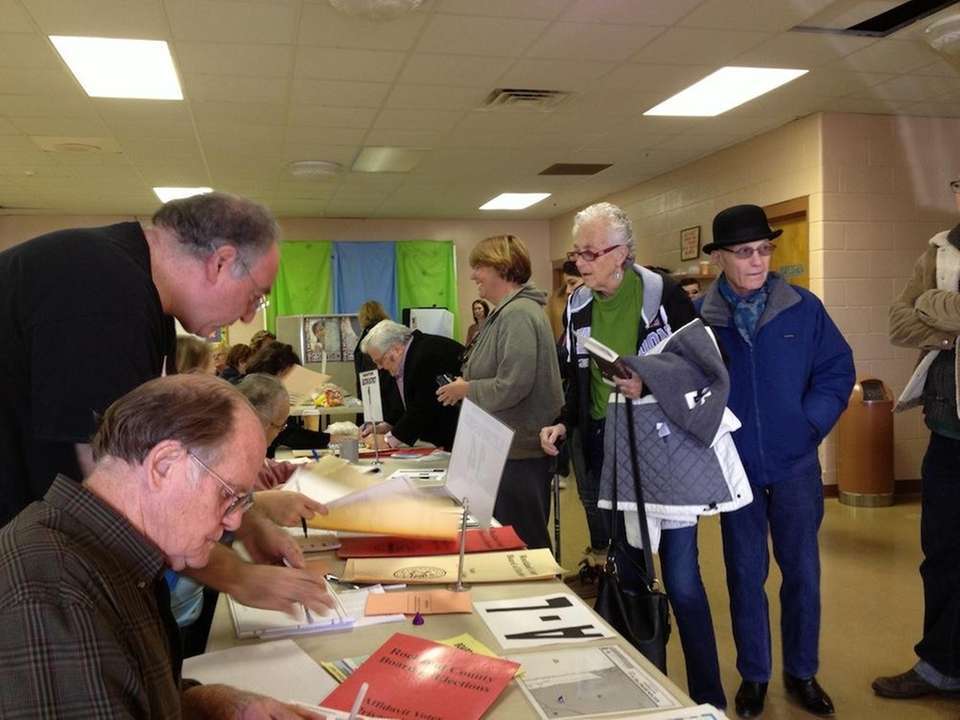 Voters cast their ballots Tuesday morning at a