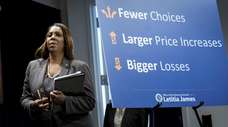 New York Attorney General Letitia James, seen at