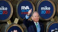 Democratic presidential candidate Michael Bloomberg at a campaign