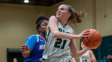Carle Place #21 Erin Leary drives to the