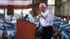Democratic presidential candidate Bernie Sanders at a campaign