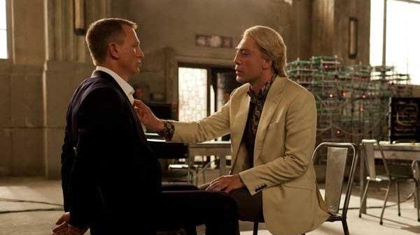 Daniel Craig, left, and Javier Bardem in