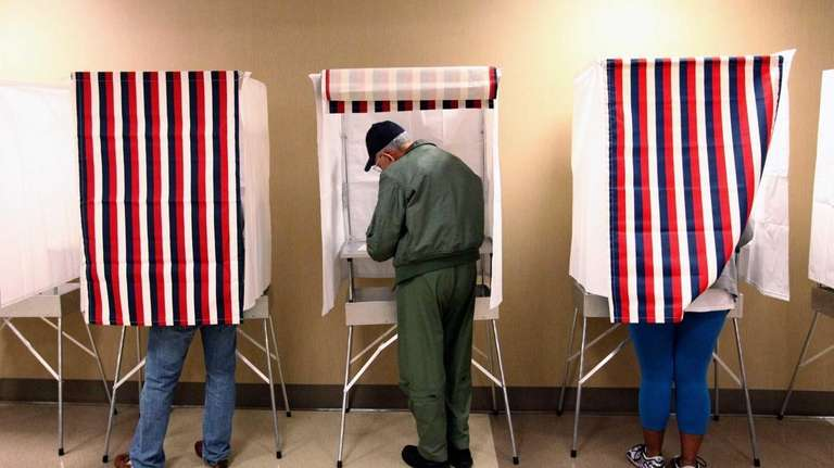 Voting at the Northport City Hall voting location