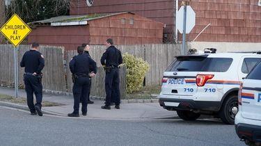 Nassau County police investigating a burglary on Hampton