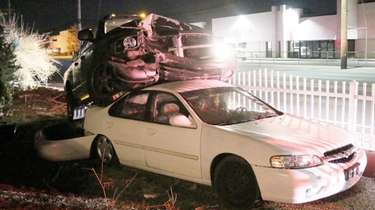 A driver of a pickup truck lost control,