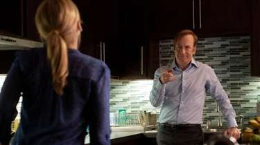 Bob Odenkirk as Jimmy McGill and Rhea Seehorn