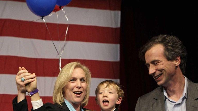 U.S. Sen. Kirsten Gillibrand (D-N.Y.), with husband Jonathan