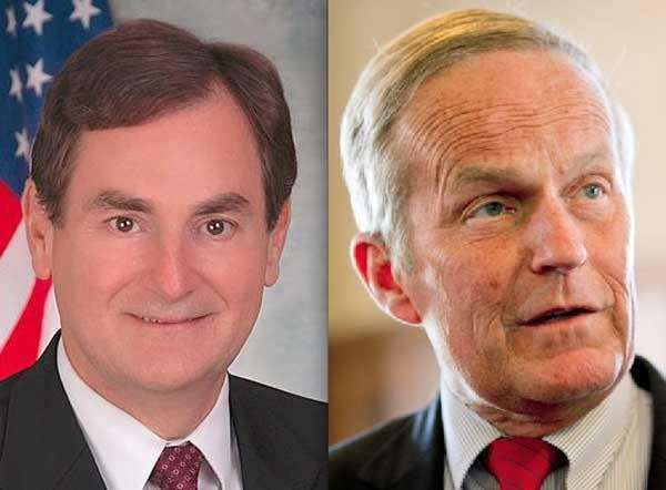 Richard Mourdock, left, and Todd Akin (Getty).