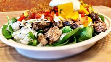 A steak baja bowl from Cabo Fresh Mexican