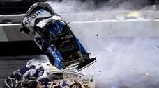 Ryan Newman and Corey LaJoie crash during the