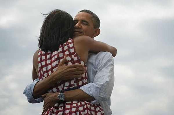 President Obama and wife Michelle Obama.