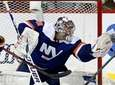 Semyon Varlamov of the Islanders makes a glove