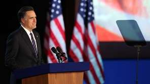 Republican presidential candidate, Mitt Romney, speaks at the