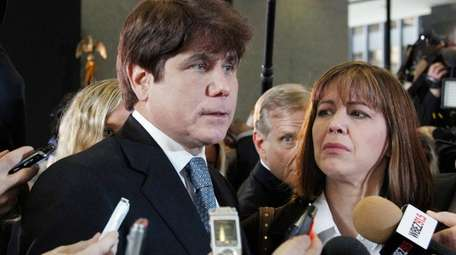 Former Illinois Gov. Rod Blagojevich and his wife,