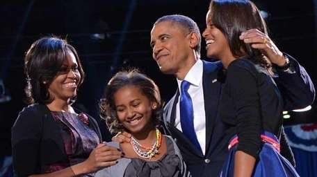 U.S. President Barack Obama with first lady Michelle