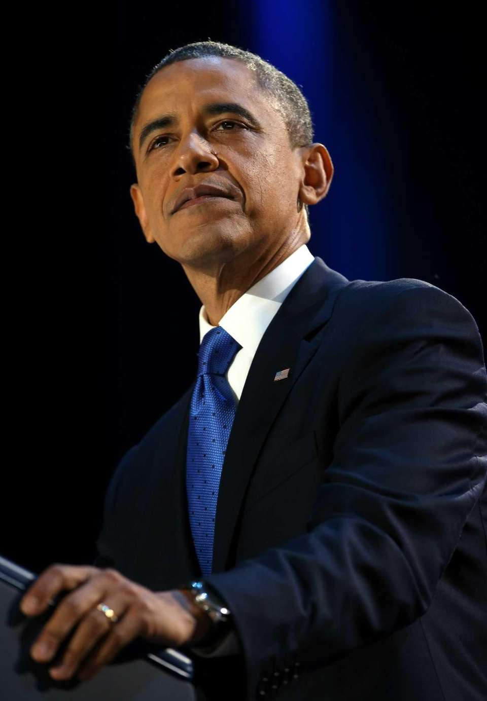 U.S. President Barack Obama delivers his victory speech