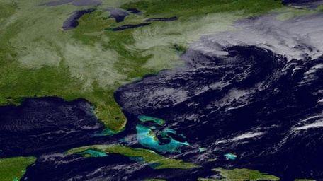 East Coast satellite image (Nov. 7, 2012)