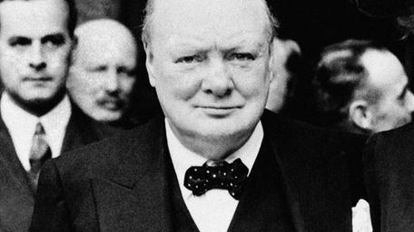 Prime Minister Winston Churchill in London, June 1943.