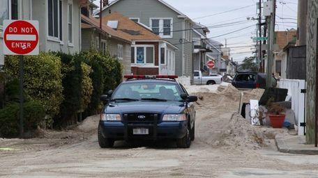New York State Police patrol Oceanview Street in