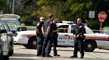 Nassau County police cordon off a portion of
