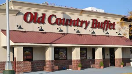 The exterior of the Old Country Buffet, located