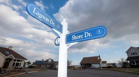 The development project's last phase involves wayfinding signs,