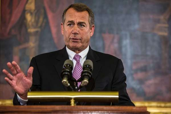 House Speaker John Boehner discusses the looming fiscal