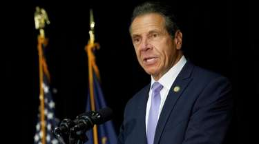 New York Gov. Andrew M. Cuomo seen on