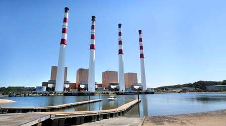 The Northport power station is seen on Wednesday,