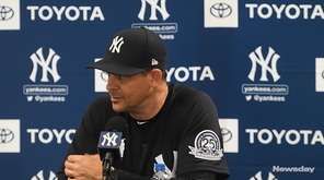 Yankees manager Aaron Boone spoke at spring training