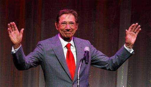 Former New York Jets quarterback Joe Namath is