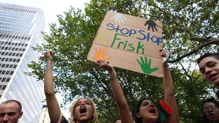 A rally at City Hall Park against the