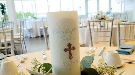 LMNO recently designed centerpieces for a baptism held