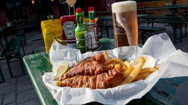 Octoberfest brew, and fish and chips at Croxley's