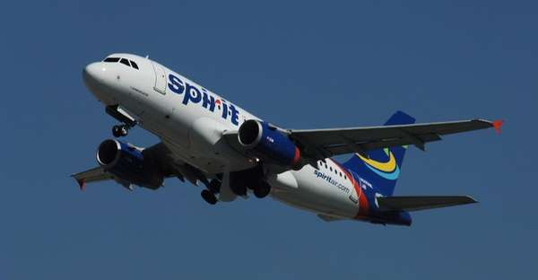 A Spirit Airlines A319.