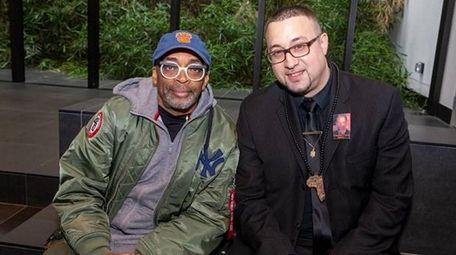 :Spike Lee, left, with Assistant Professor Zebulon Miletsky
