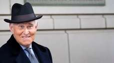 Roger Stone outside federal court in Washington on